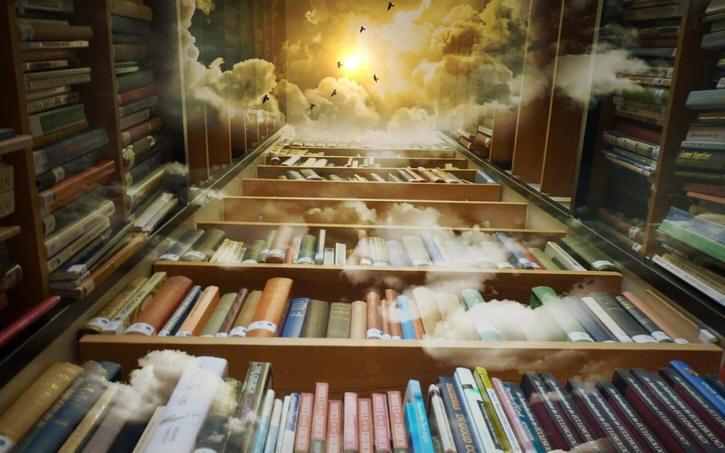 high book shelves