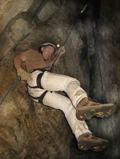 Rapelling and Caving