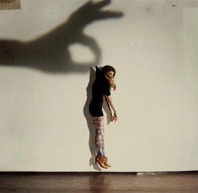 shadow and girl