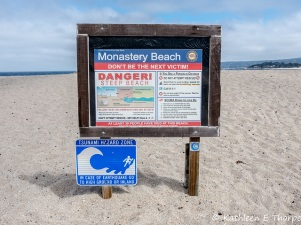 Monastery Beach sign