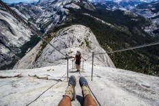 Half dome trail up 2