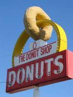 donut shop sign