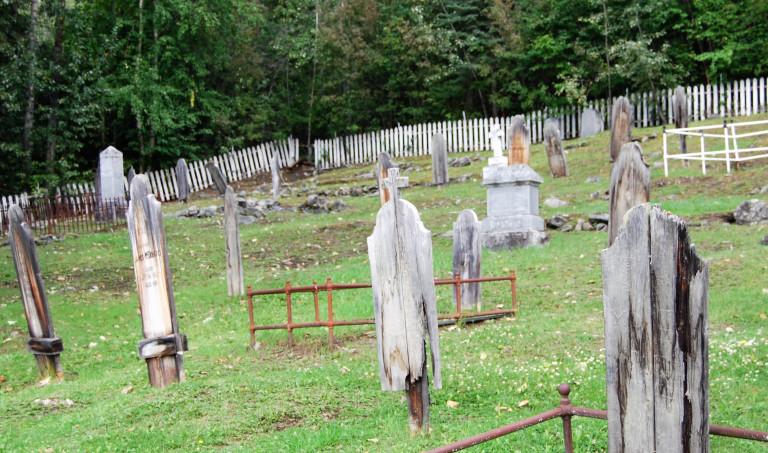 Dilapidated Graveyard by Shari Marshall