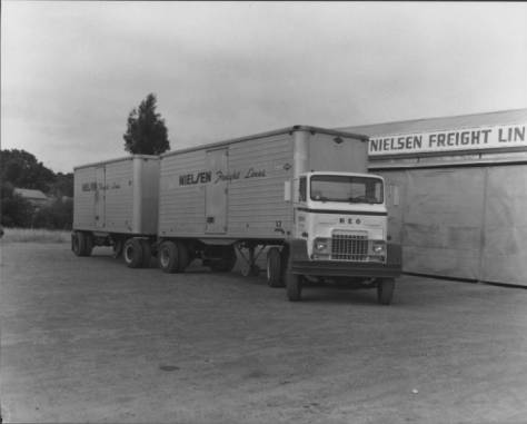 nielsen freight lines truck circa 1958