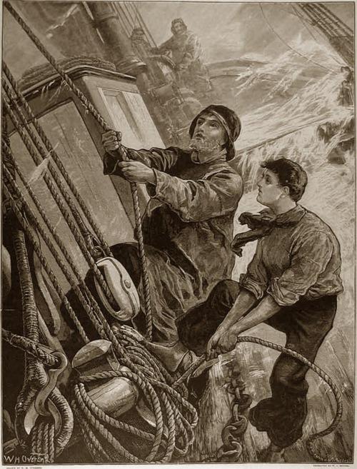 sailors in storm