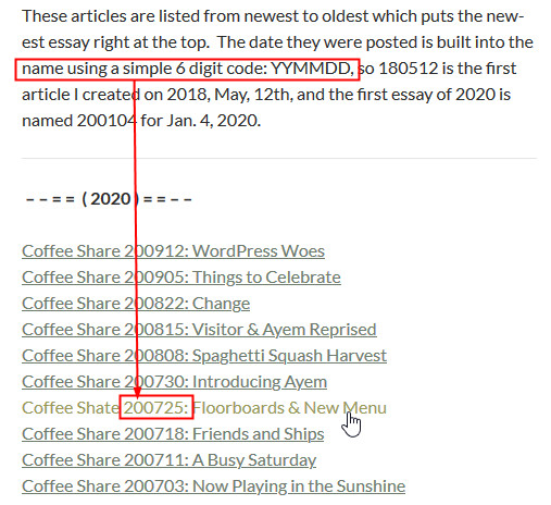 coffee share Navigation 2