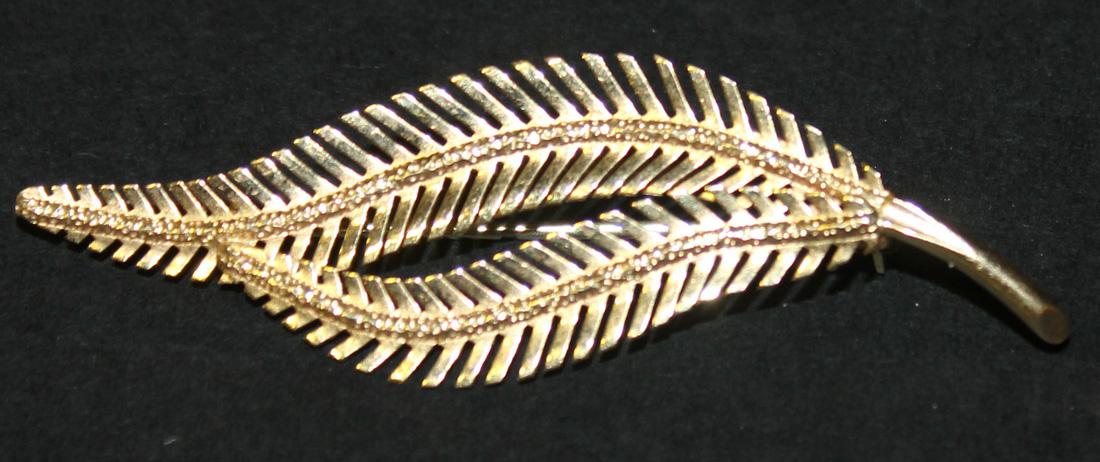 fern frond brooch